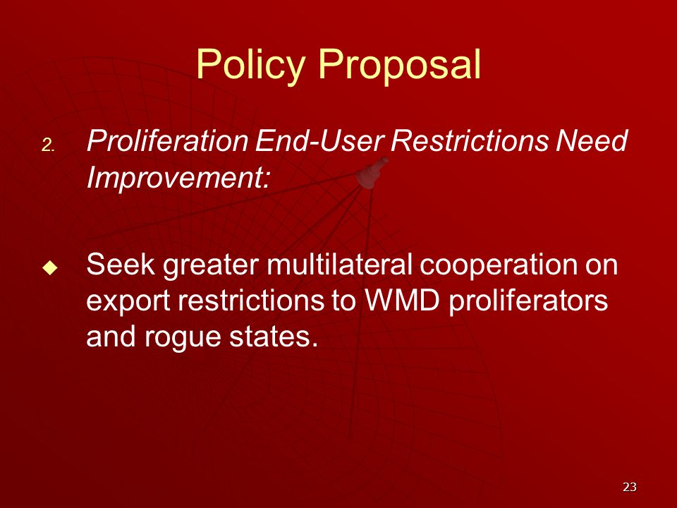 23 Policy Proposal 2.
