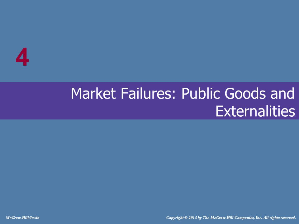 4-2 Market Failures Market fails to produce the right amount of the product Resources may be Overallocated Underallocated LO1