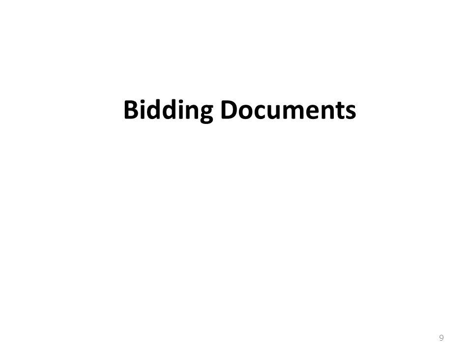 Bidding Documents 9