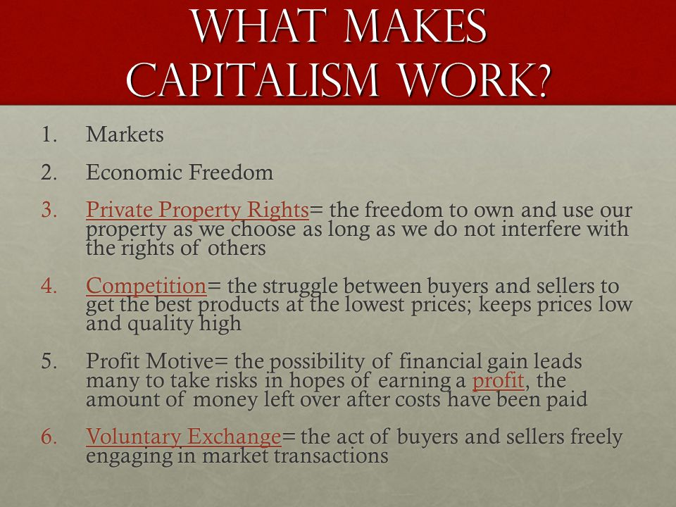 What Makes Capitalism Work.