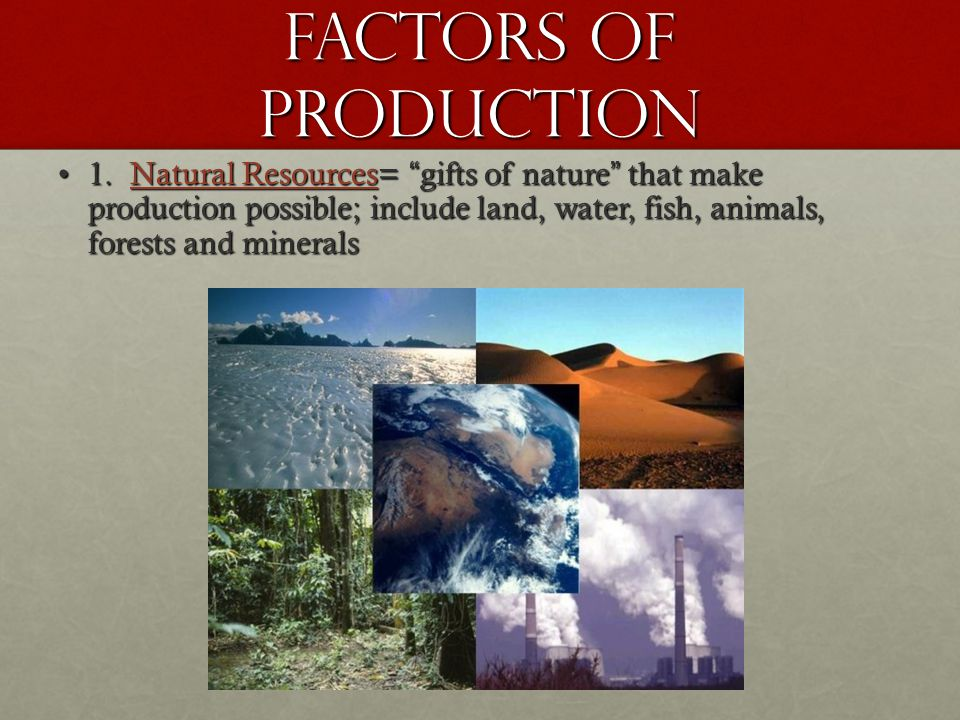 Factors of Production 1.