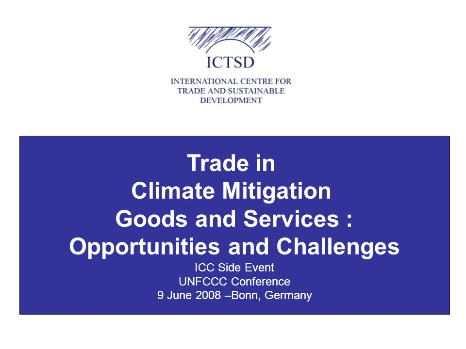 Key Issues and Challenges for Environmental Goods Negotiations at WTO What to Liberalise.