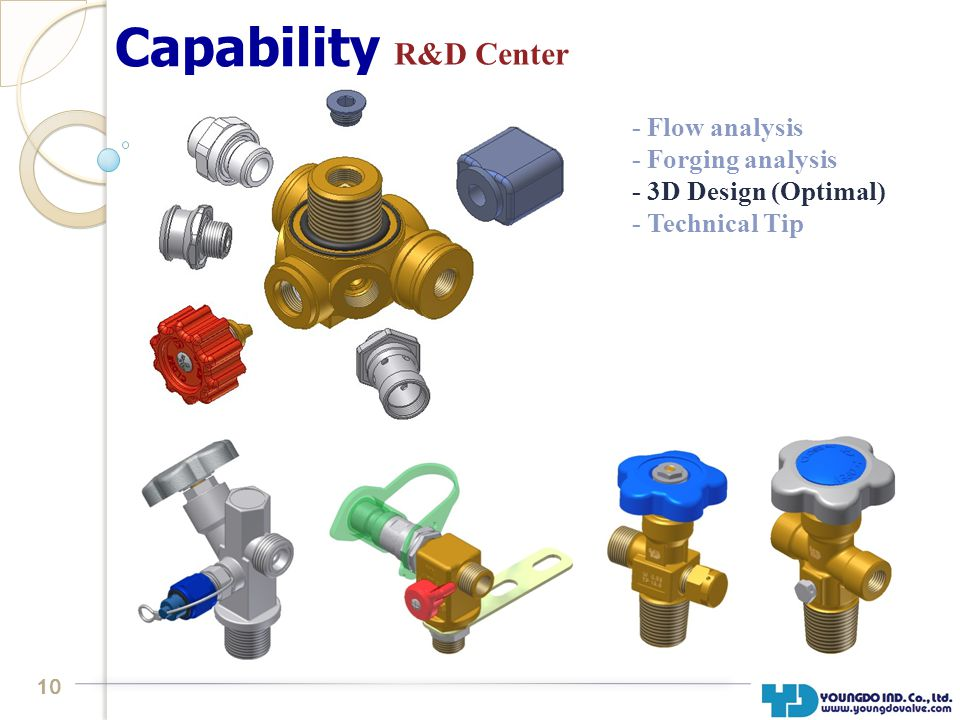 10 Capability R&D Center - Flow analysis - Forging analysis - 3D Design (Optimal) - Technical Tip