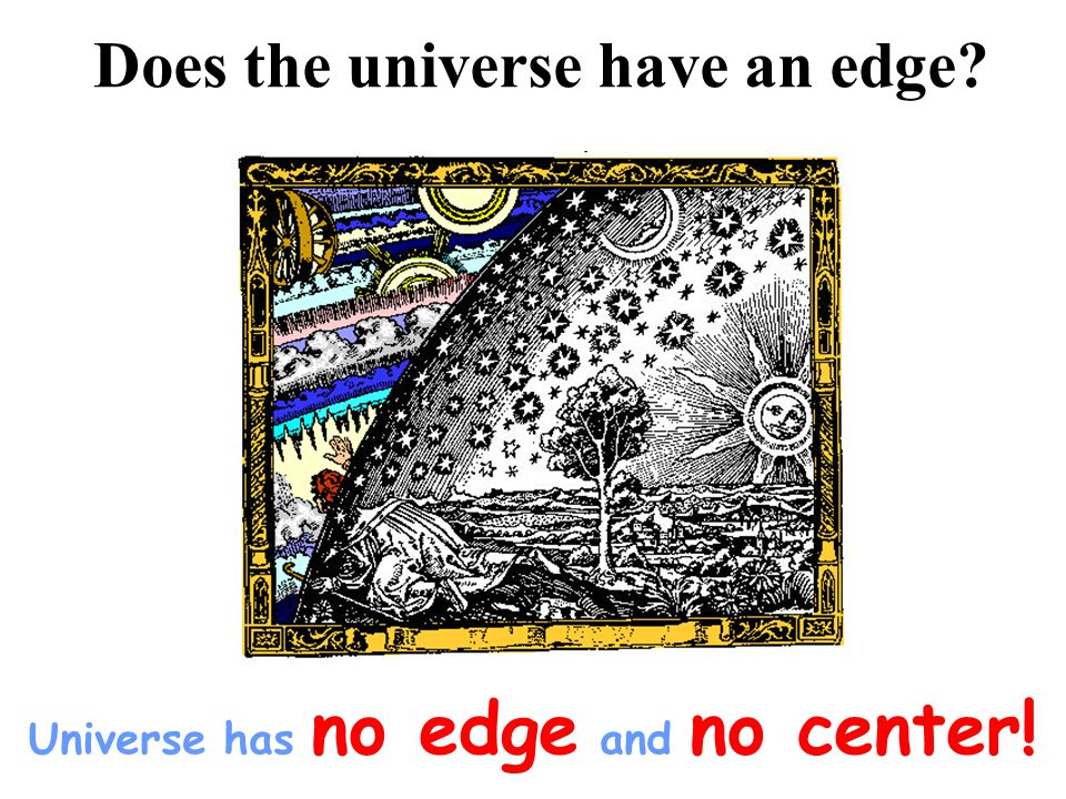 Does the universe have an edge Universe has no edge and no center!