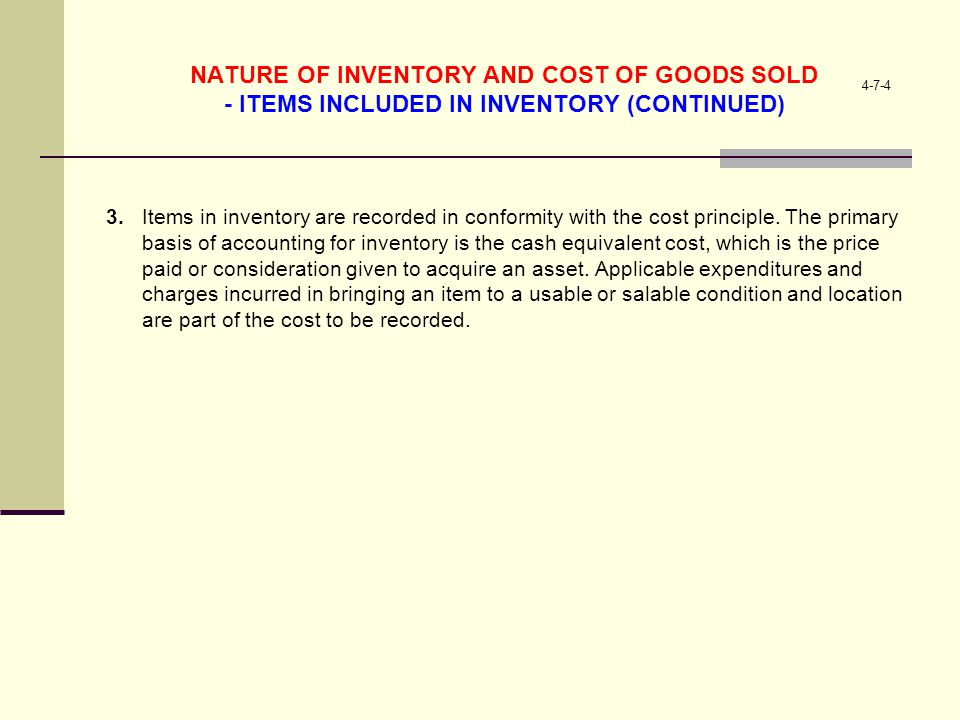 15-7-7 EVALUATING INVENTORY MANAGEMENT – LO 6 in Inventory Management Inventory turnover measures the liquidity (nearness to cash) of inventory Inventory turnover = 1.Ending inventory is also presented on the Balance Sheet as a current asset.