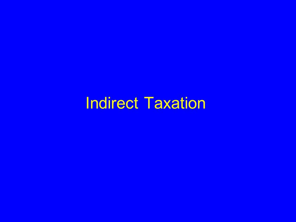 Part I – Value Added Tax