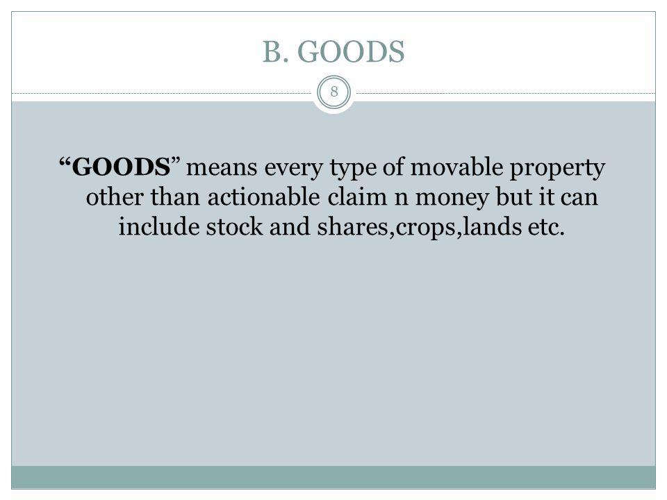 TYPES OF GOODS 18