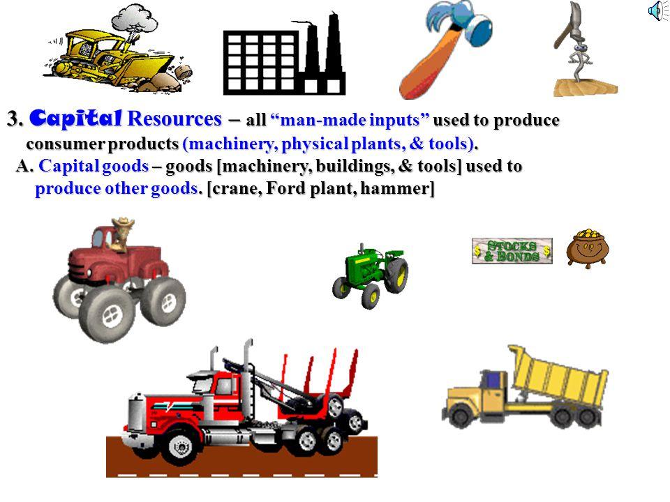 . 2. Labor [human resources] anyone who works [paid work] anyone who works [paid work] A. Physical – pro athletes & lumberjacks B. Intellectual – acco