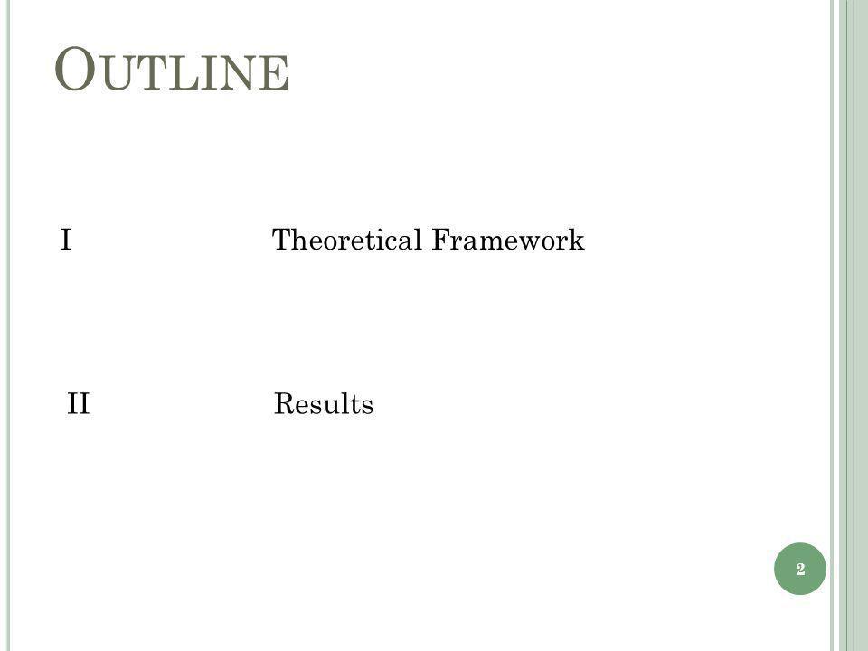 O UTLINE I Theoretical Framework II Results 2