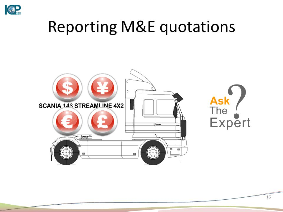16 Reporting M&E quotations