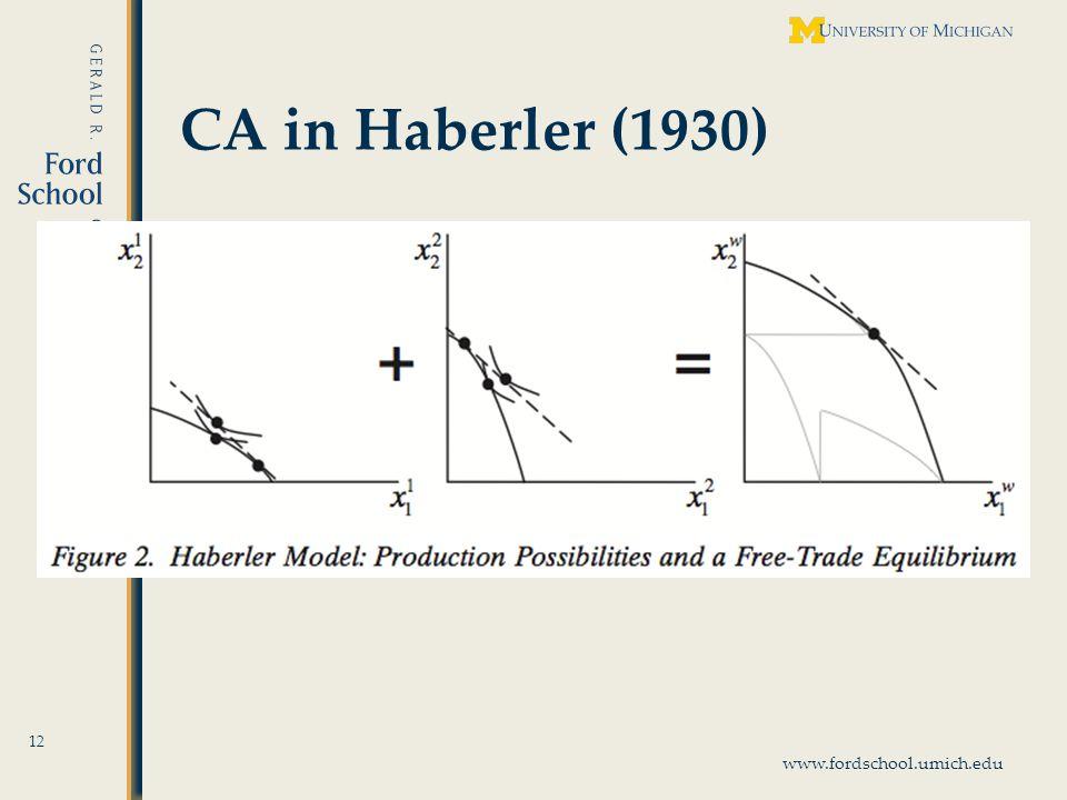 www.fordschool.umich.edu CA in Haberler (1930) 12
