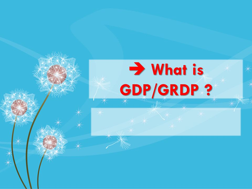 What is GDP/GRDP What is GDP/GRDP