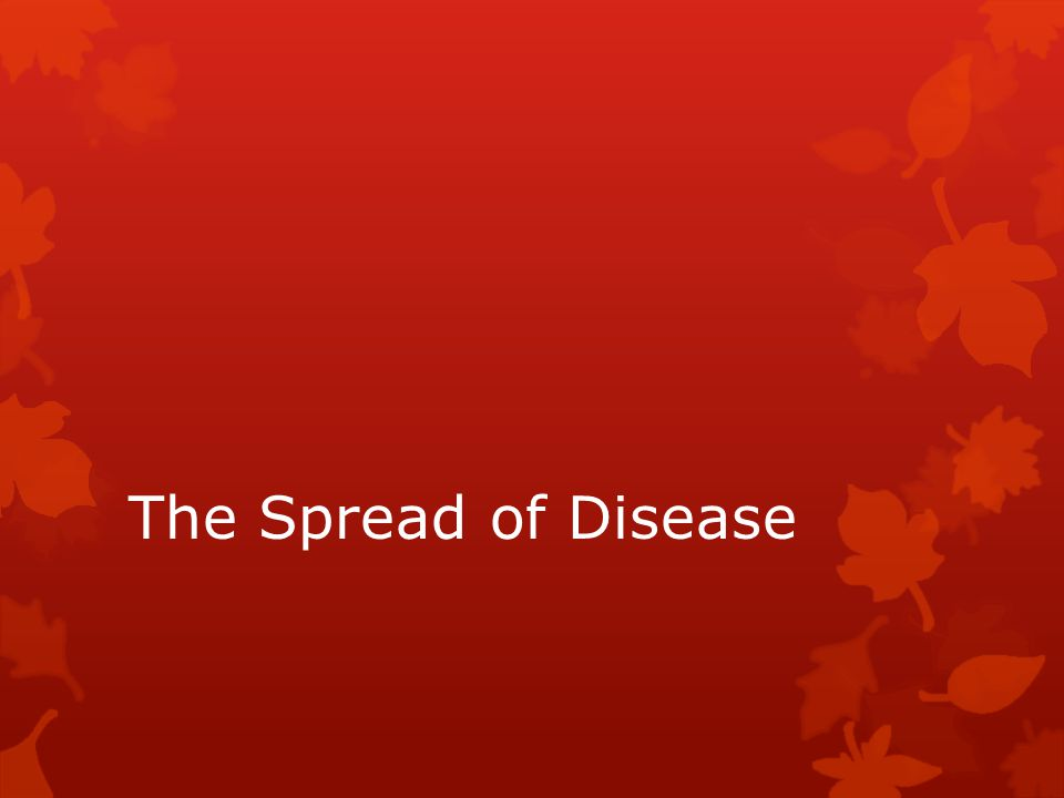 The Spread of Disease