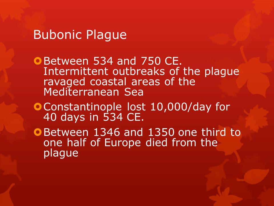 Bubonic Plague Between 534 and 750 CE.