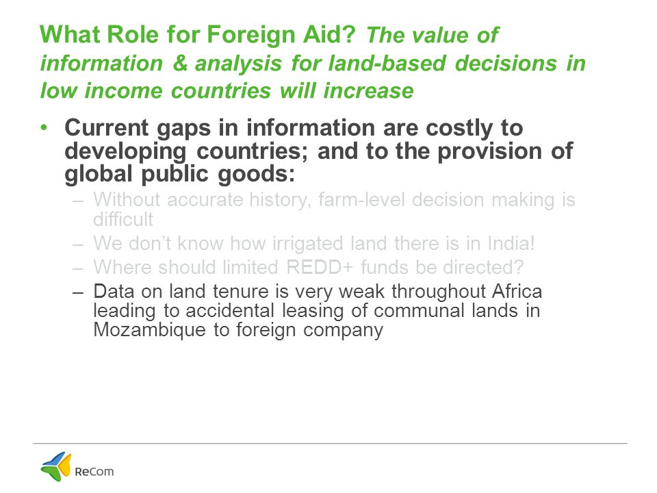What Role for Foreign Aid.