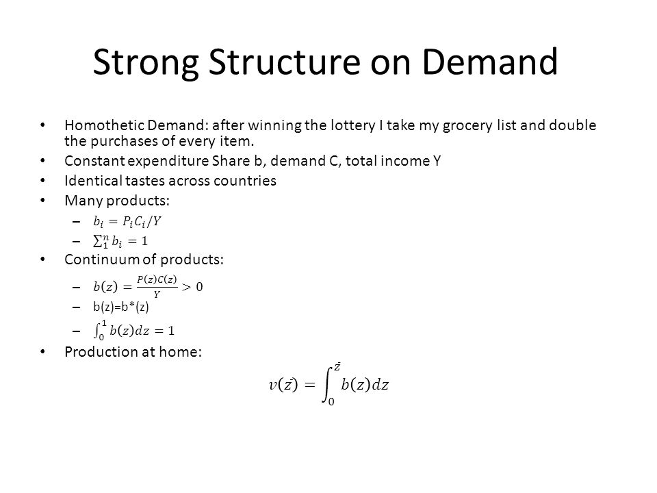 Strong Structure on Demand