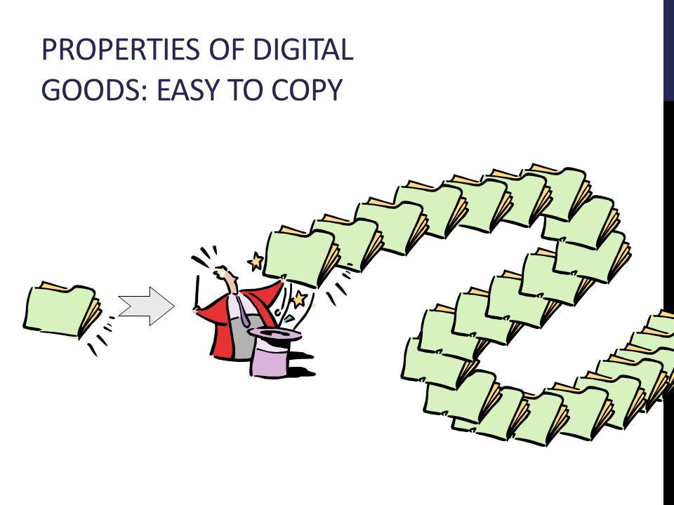 PROPERTIES OF DIGITAL GOODS: EASY TO COPY