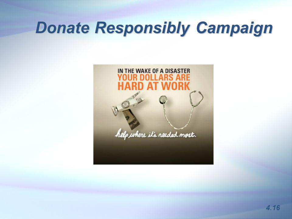 Donate Responsibly Campaign 4.16