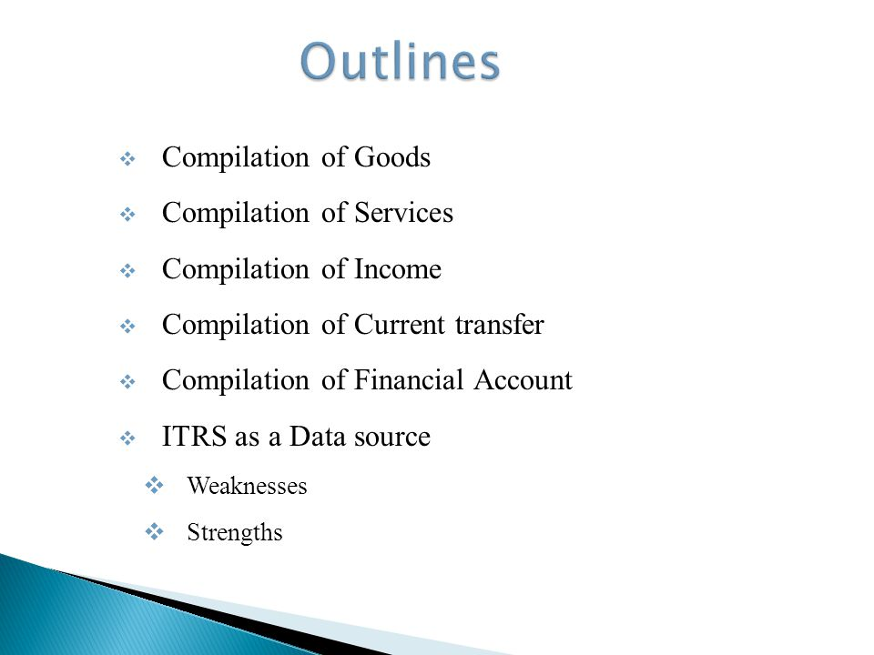 Coverage adjustments: Export/Import financed by loans Goods covered by foreign aid programs Goods transferred between DI enterprises Goods for processing Barter trade Shuttle trade Trade credit Classification adjustments: Export/Import conversion to f.o.b.