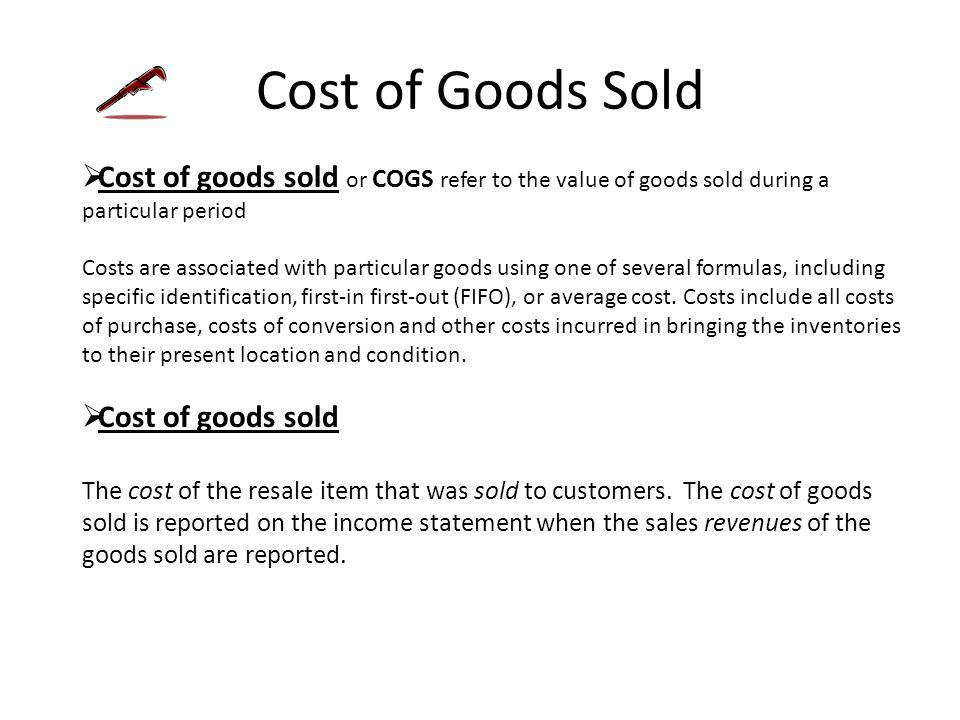 Cost of Goods Sold Calculating COGS On a monthly basis you must perform the following: Find your beginning inventory for the month you are calculating.
