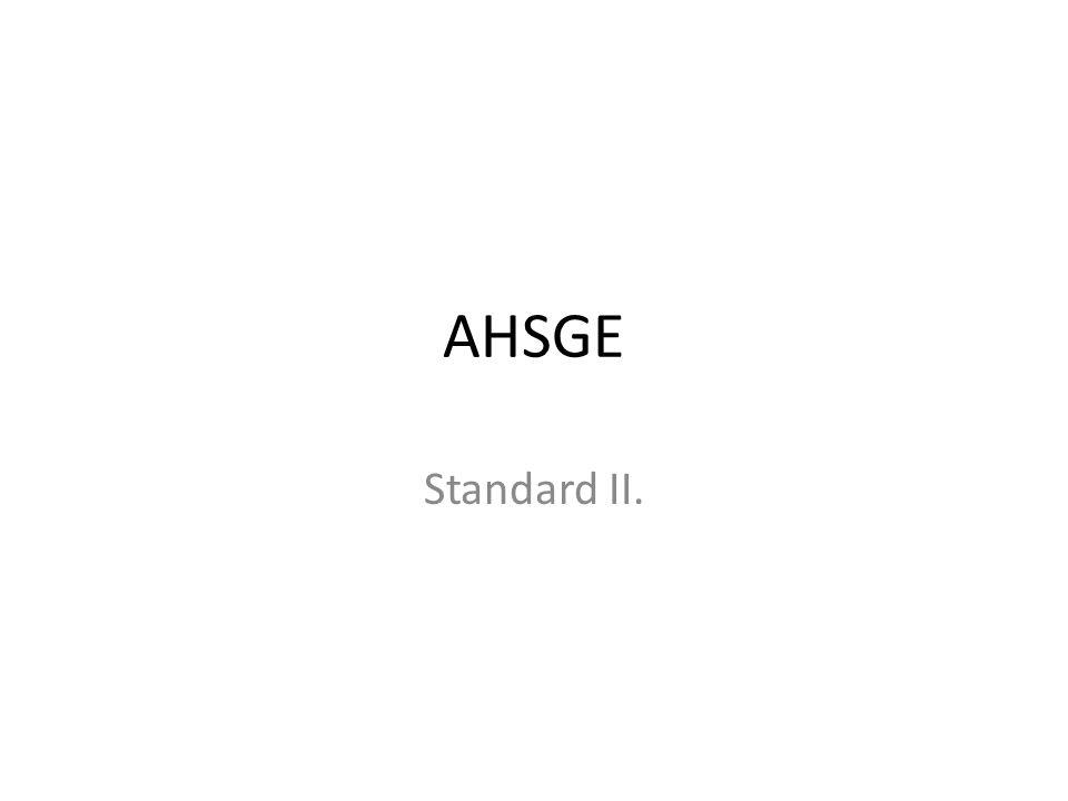 AHSGE Standard II.
