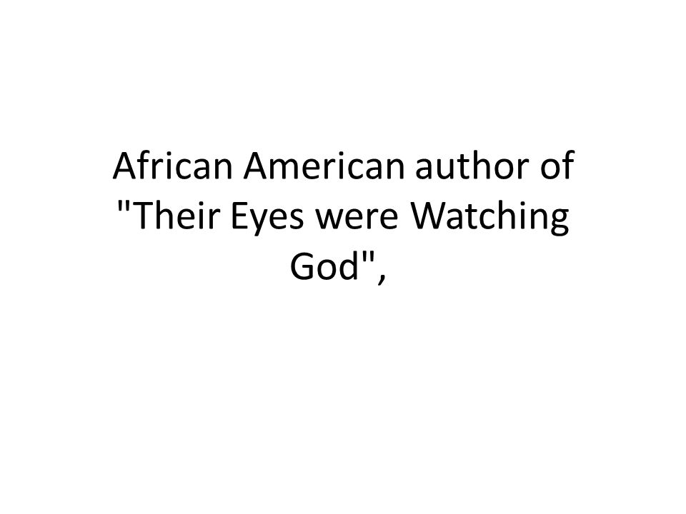 African American author of