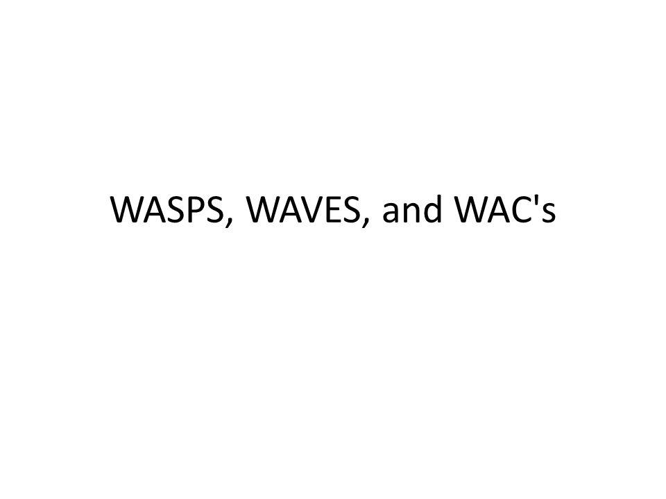 WASPS, WAVES, and WAC's