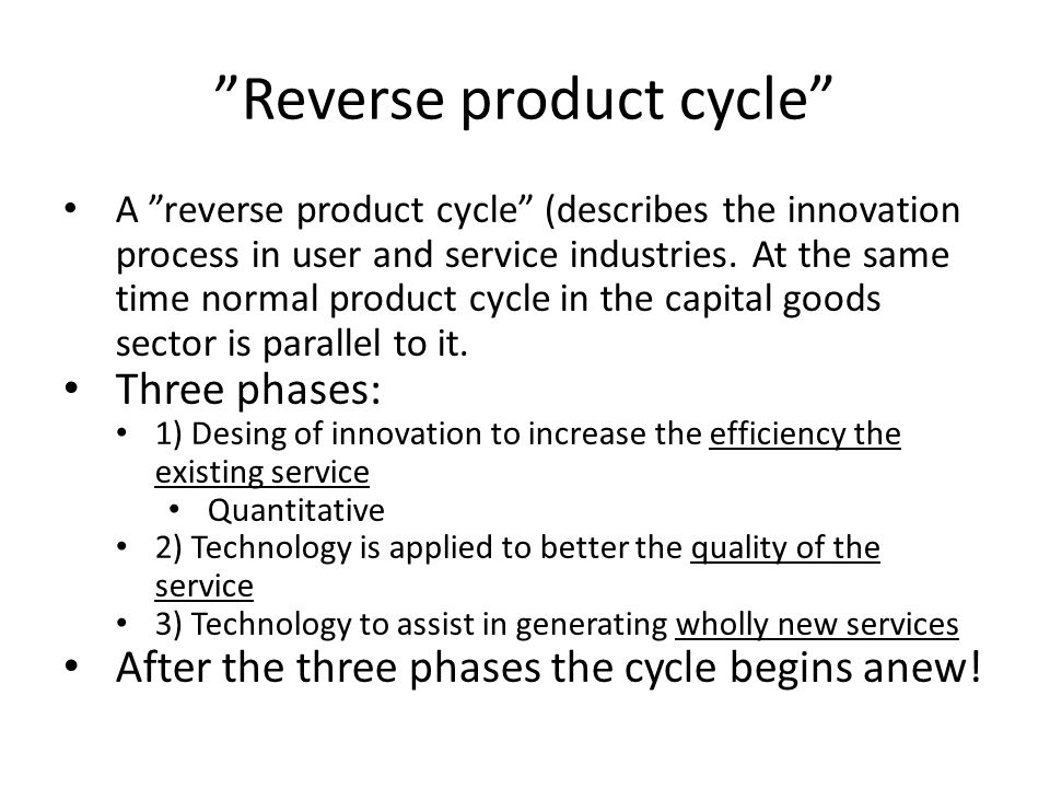 Innovation and the growth cycle Kondrative 1.: Steam, textile; K2.: iron, steel, engineering and railways; K3.: electric power, automobiles and chemical manufacture K4.: post war boom in consumer electronics, synthetic materials and pharmaceuticals K.5: new service activities based on information technologies
