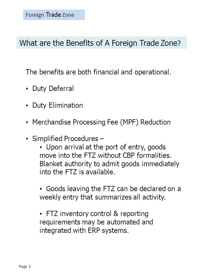 Foreign Trade Zone What are the Benefits of A Foreign Trade Zone .