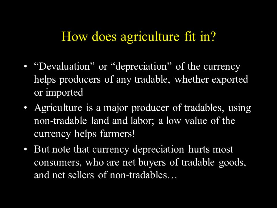 How does agriculture fit in.