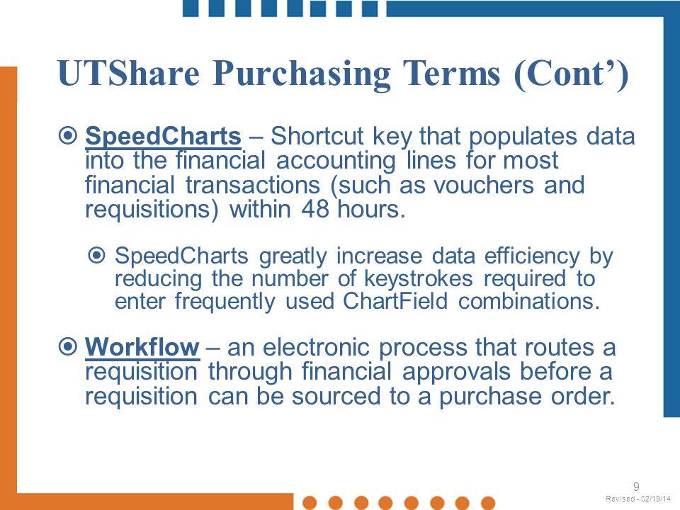 UTShare - Accounts 30 Revised - 02/19/14
