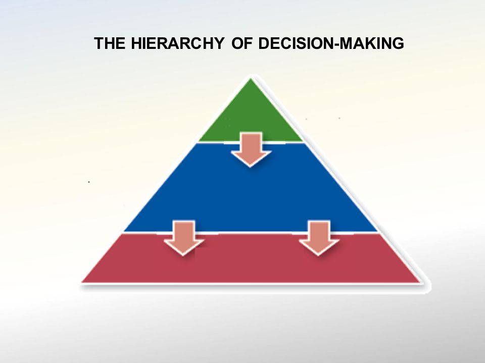 THE HIERARCHY OF DECISION-MAKING