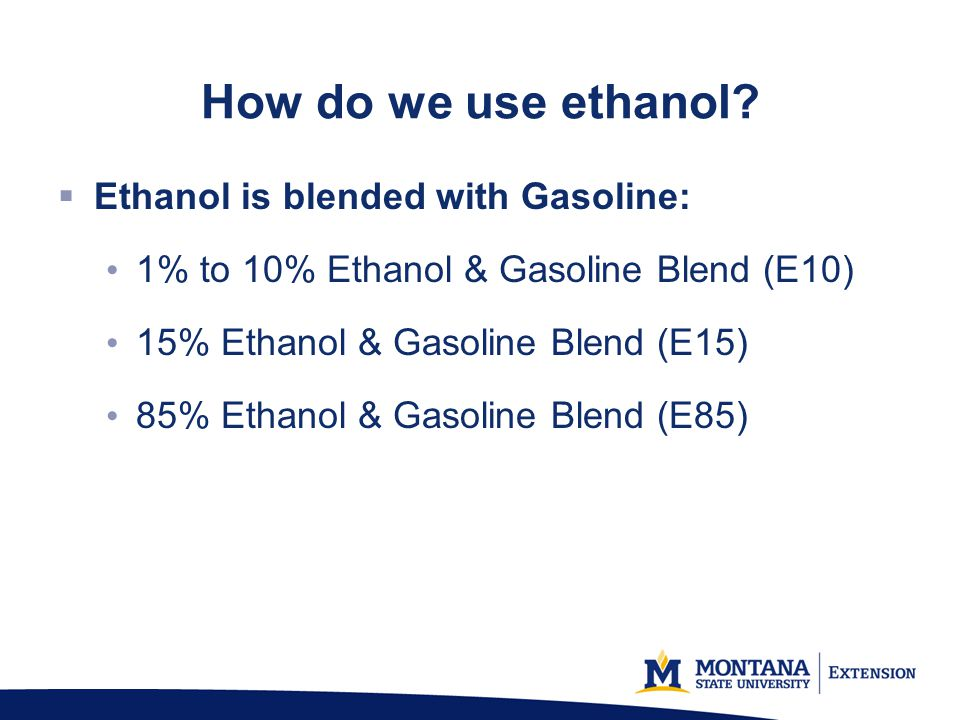 How do we use ethanol.