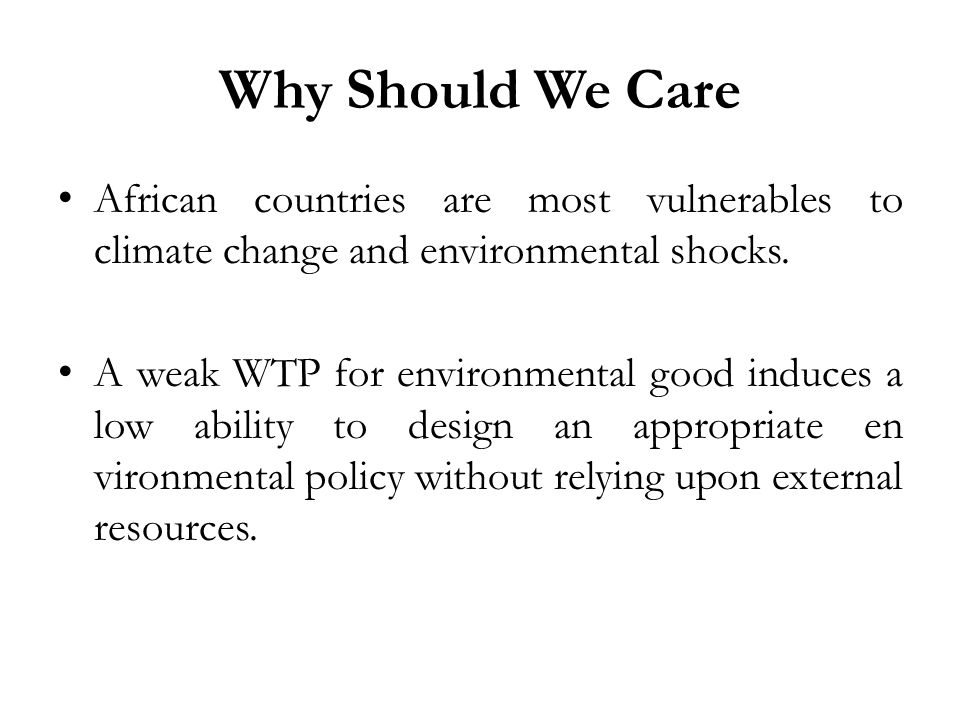 Knowledge Gap At the sole exception of Polyzou and al (2011), to our knowledge, there is no study dealing explicitly with the relationship between social capital and the willingness to pay for environmental goods in general, African countries to be specific.