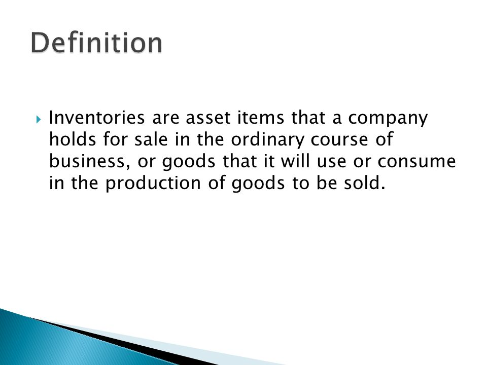 Merchandise Inventory Raw Materials Inventory Work In Process Inventory Finished Goods Inventory Merchandising Company Wal-Mart Balance Sheet 31-Jan-04 Current assets (in millions) Cash and cash equivalents $ 5,199 Receivables 1,254 Inventories 26,612 Prepaid expenses and other 1,356 Total current assets $ 34,421 Manufacturing Company Caterpillar Balance Sheet 31-Dec-04 Current assets (in millions) Cash $ 445 Accounts Receivable 13,969 Inventories Raw materials $ 1,592 Work in process 664 Finished goods 2,209 Supplies 210 Total inventories 4,675 Other current assets 1,767 Total current assets $ 20,856