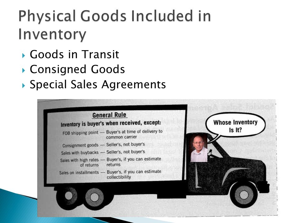 Goods in Transit Consigned Goods Special Sales Agreements