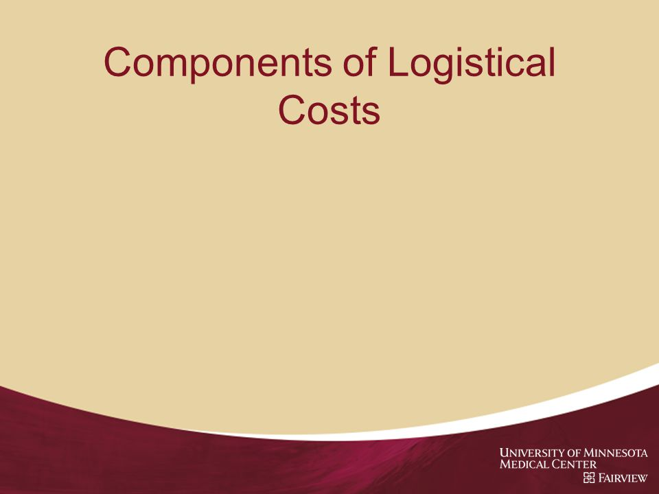 Components of Logistical Costs