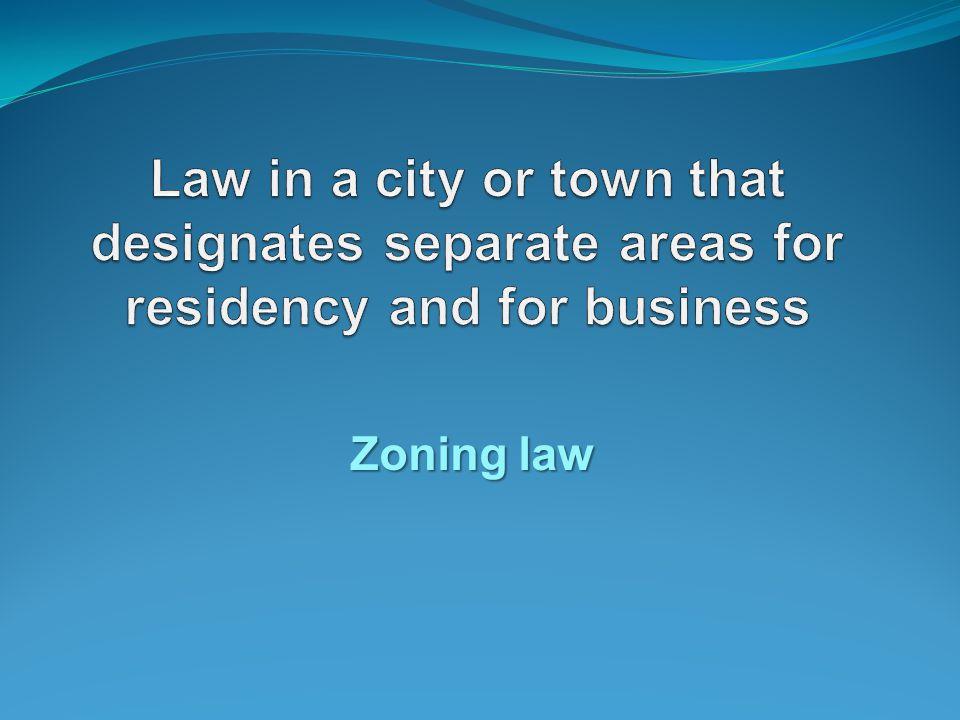 Zoning law