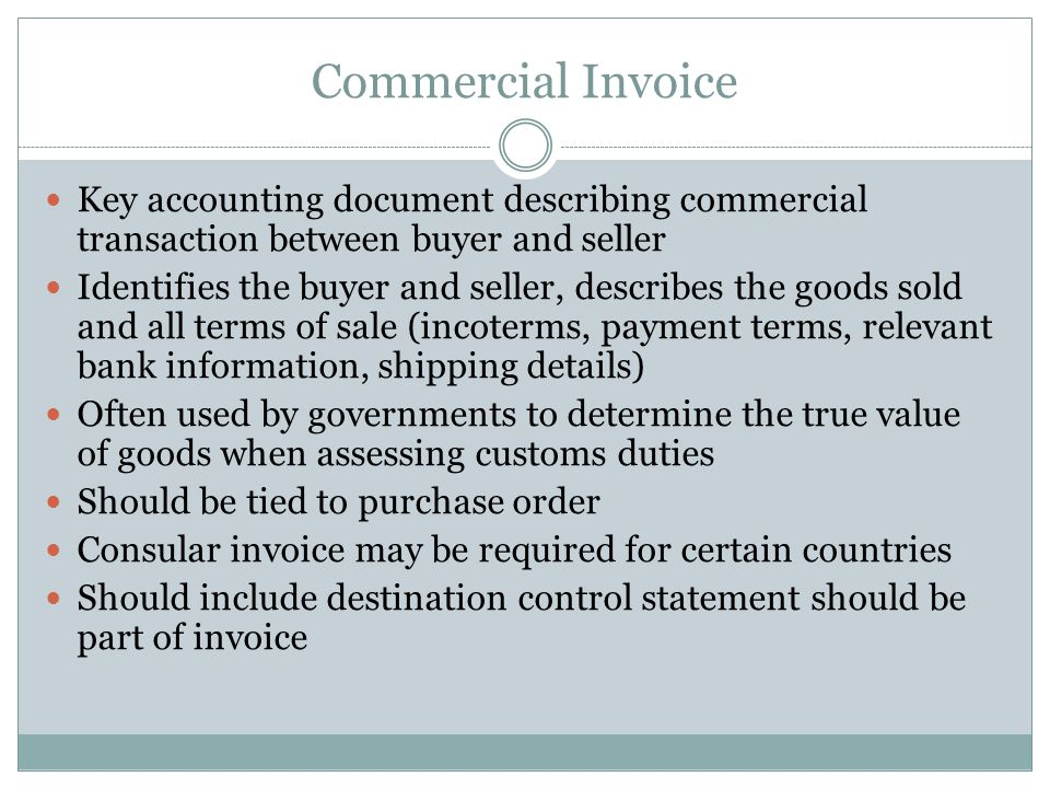 Bill of Lading Contract between the owner of the goods and the carrier Receipt for merchandise and contract to deliver Straight (non-negotiable) vs.