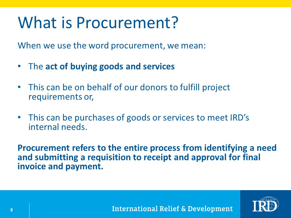 14 Procurement Process: Step 4 Develop procurement strategy Determine who will make the selection.