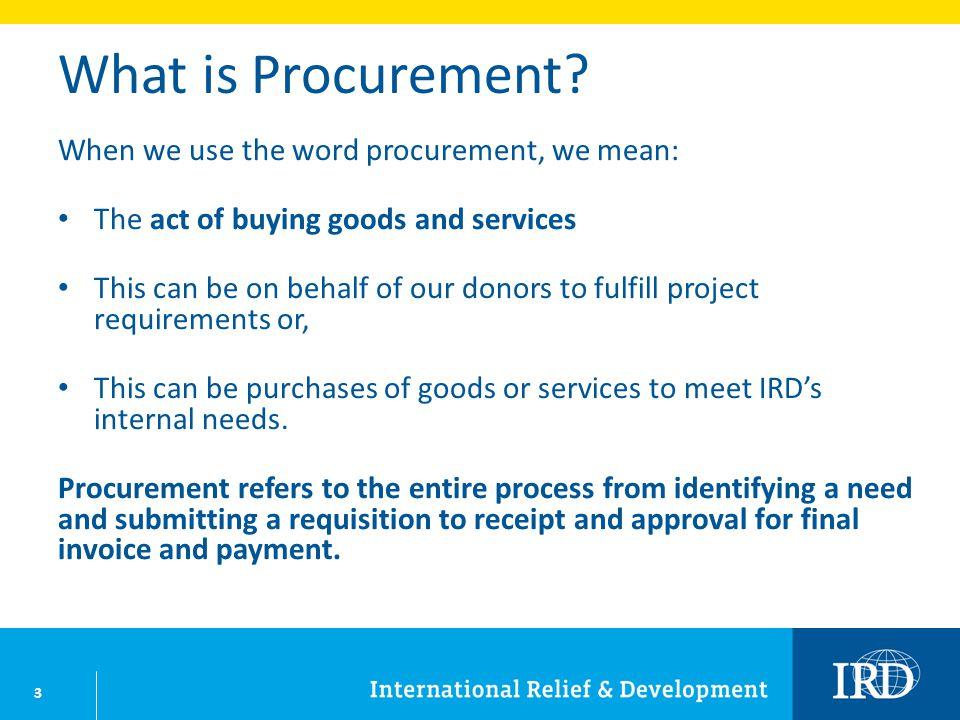 3 What is Procurement.