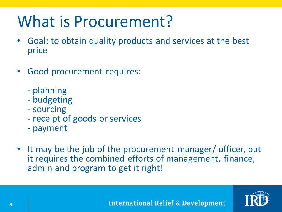 4 What is Procurement.