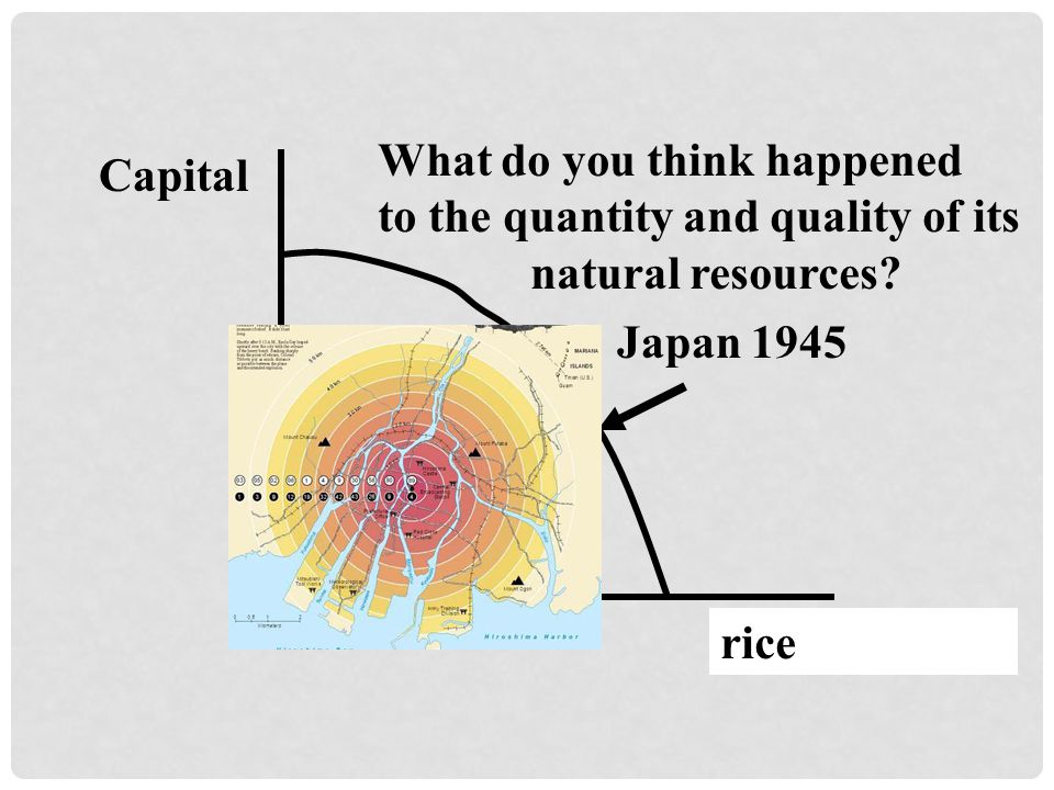 Capital Consumption Japan 1945 rice What do you think happened to the quantity and quality of its natural resources?