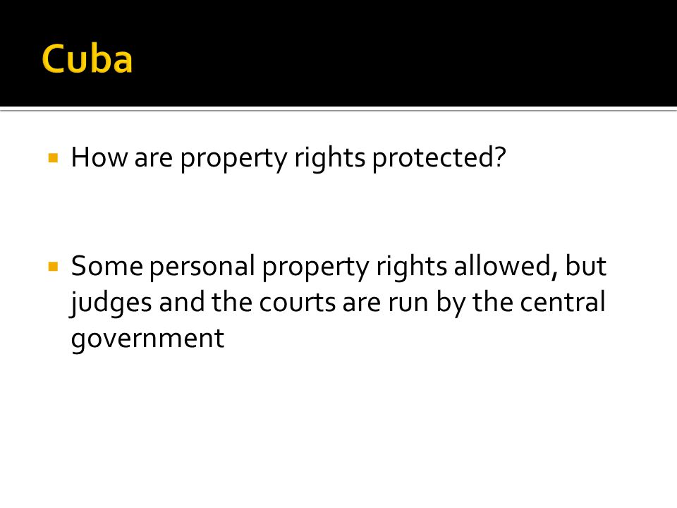 How are property rights protected.