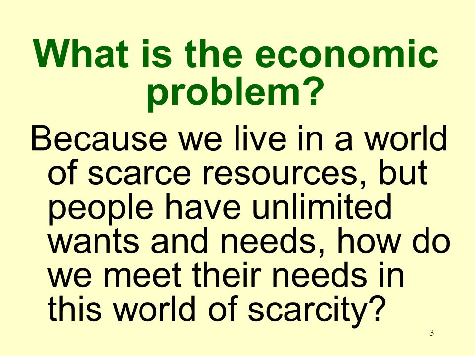 3 What is the economic problem.