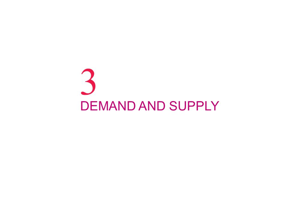 3 DEMAND AND SUPPLY