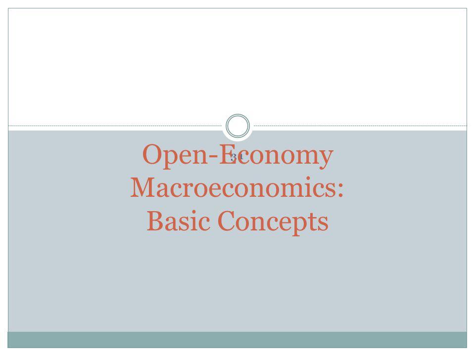 31 Open-Economy Macroeconomics: Basic Concepts