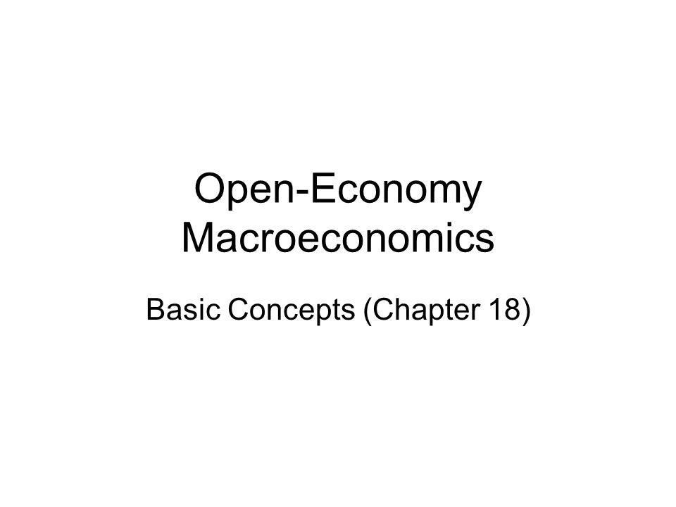 Open-Economy Macroeconomics Basic Concepts (Chapter 18)