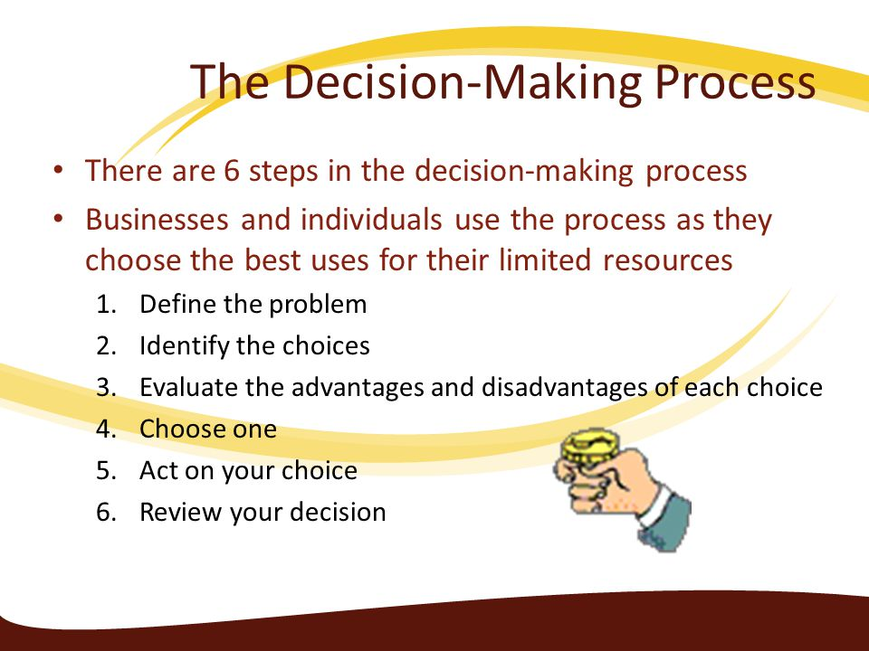6 steps of the decision making process