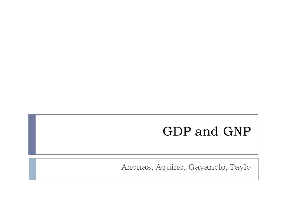 What is GDP.